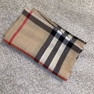 Authentic Burberry giant check gauze scarf